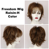Raisin-H / Large Freedom w/ Roots / Medium Wig
