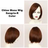 Sangria-R / Chloe Monofilament w/ Roots / Medium Wig
