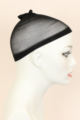 Black / Nylon / Wig Cap