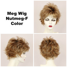 Nutmeg-F / Meg w/ Roots / Short Wig