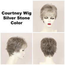Silver Stone / Courtney / Short Wig