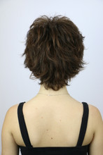 Back of Meg Short Wig in Ginger Brown.