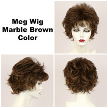 Marble Brown / Meg / Short Wig
