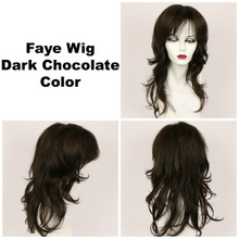 Dark Chocolate / Faye / Long Wig