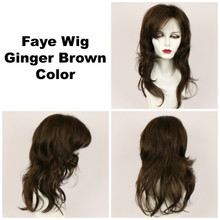 Ginger Brown / Faye / Long Wig