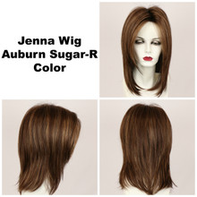 Auburn Sugar-R / Jenna w/ Roots / Long Wig