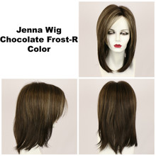 Chocolate Frost-R / Jenna w/ Roots / Long Wig