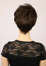 Back of Peggy Wig in Ginger Brown.