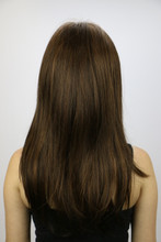 Back of Cassandra Monofilament Wig in Toasted Brown