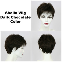 Dark Chocolate / Shelia / Short Wig