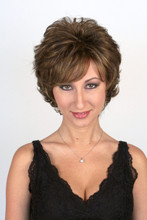 Sunset Short Wig in Marble Brown.
