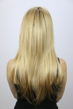 Back of Thin Candice Wig with Roots in Sandalwood-H.