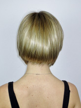 Back of Vicki Monofilament Wig with Roots in Creamy Toffee-R.