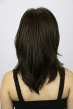 Back of Madison Wig in Dark Chocolate
