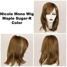 Maple Sugar-R / Nicole Monofilament w/ Roots / Medium Wig