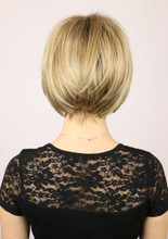 Back of Sabrina Wig w/ Roots in Creamy Toffee-R.
