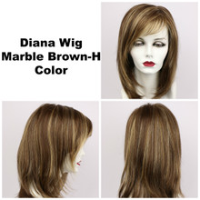 Marble Brown-H / Diana Lace Front / Long Wig