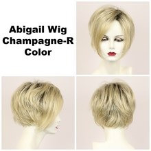 Champagne-R / Abigail Lace Front w/ Roots / Medium Wig