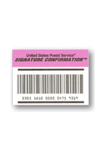 Signature Confirmation- Additional Cost (US Only)