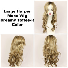 Creamy Toffee-R / Large Harper Mono w/ Roots / Long Wig