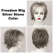 Silver Stone / Large Freedom / Medium Wig