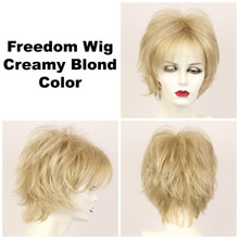 Creamy Blond / Large Freedom / Medium Wig