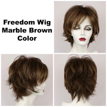 Marble Brown / Large Freedom / Medium Wig