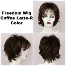 Coffee Latte-R / Large Freedom w/ Roots / Medium Wig