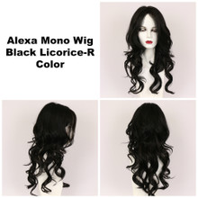 Black Licorice-R / Alexa Monofilament w/ Roots / Long Wig