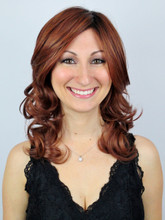 Scarlett Monofilament Lace Front Wig in Sangria-R