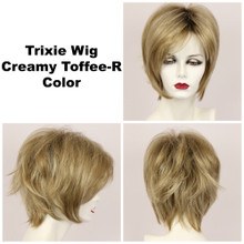 Creamy Toffee-R / Large Trixie w/ Roots / Medium Wig