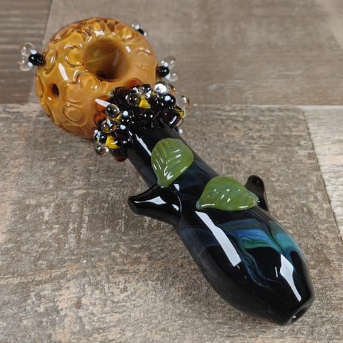 Honey Bee Spoon Pipe (Lg) by Empire Glassworks