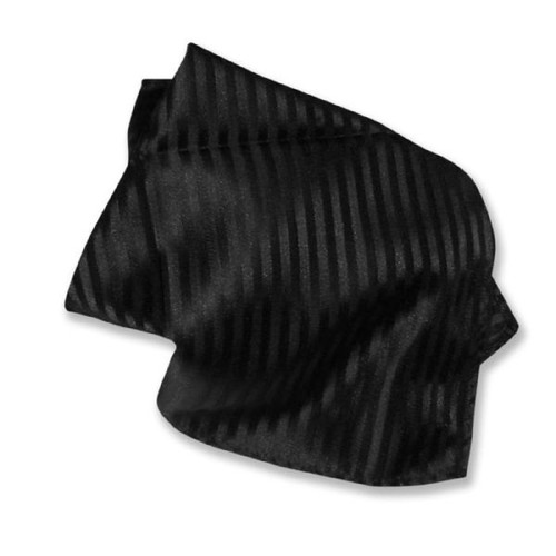 Black Striped Pattern Hankerchief Pocket Square Hanky