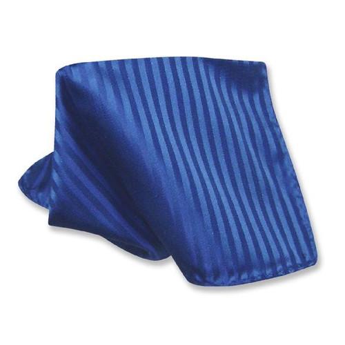 Blue Striped Pattern Hankerchief Pocket Square Hanky