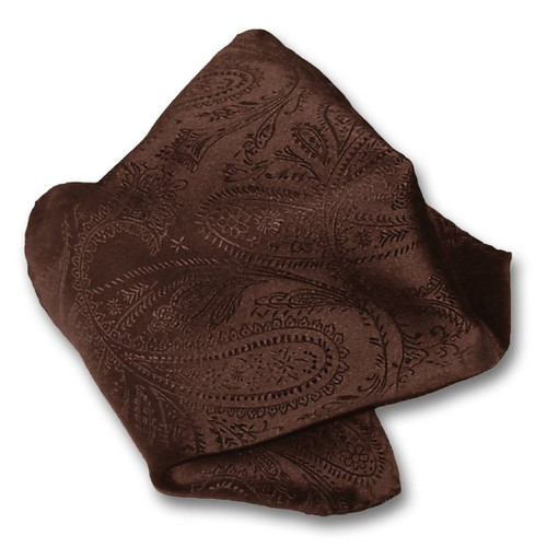 Brown Paisley Design Handkerchief Pocket Square Hanky