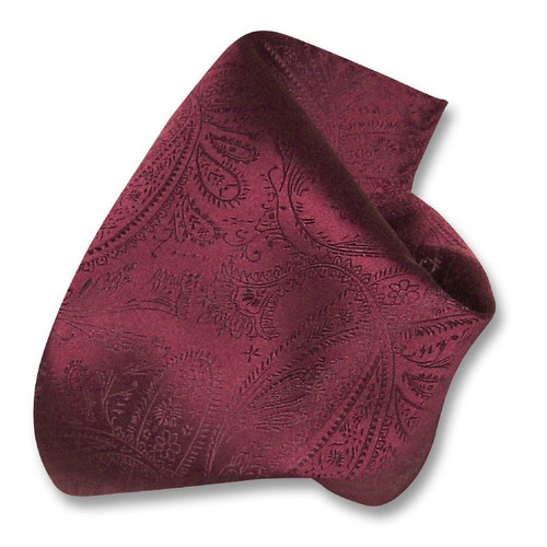 Burgundy Paisley Design Hankerchief Pocket Square Hanky