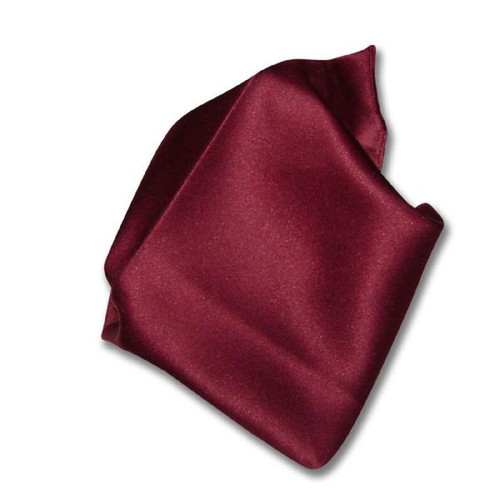 Burgundy Solid Color Hankerchief Pocket Square Hanky