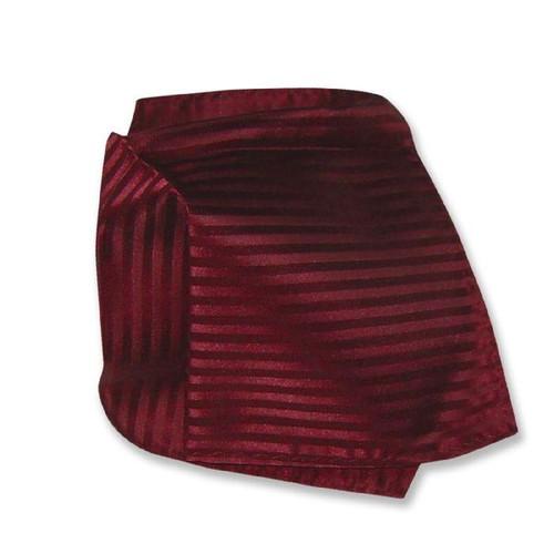 Burgundy Striped Pattern Hankerchef Pocket Square Hanky