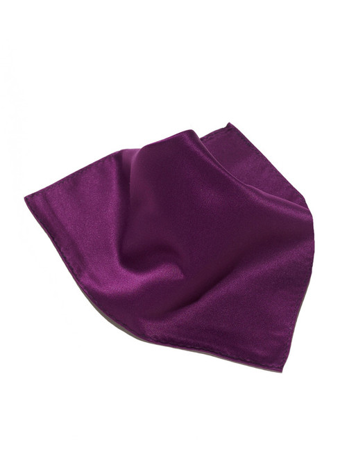Eggplant Purple Scarf Hankerchief Pocket Square Hanky