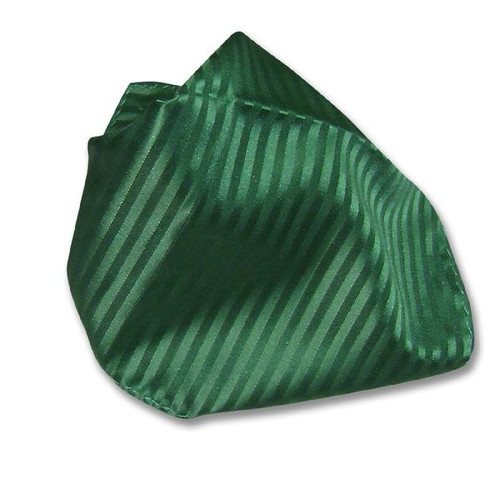 Emerald Green Striped Hankerchief Pocket Square Hanky