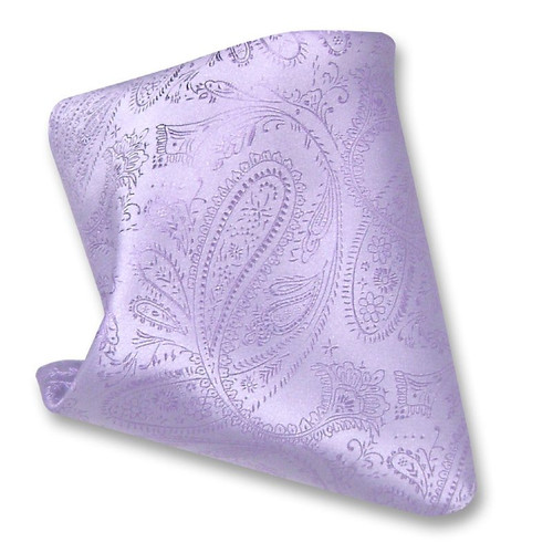 Lavender Paisley Design Hankerchief Pocket Square Hanky