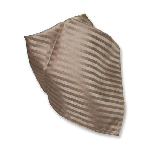 Light Brown Striped Hankerchief Pocket Square Hanky