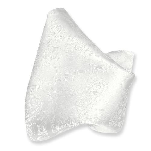 Off White Paisley Handkerchief Pocket Square Hanky