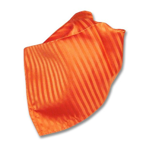 Orange Striped Pattern Hankerchief Pocket Square Hanky