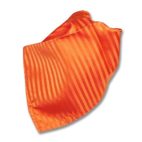 Orange Striped Pattern Hankerchief Pocket Square Hanky