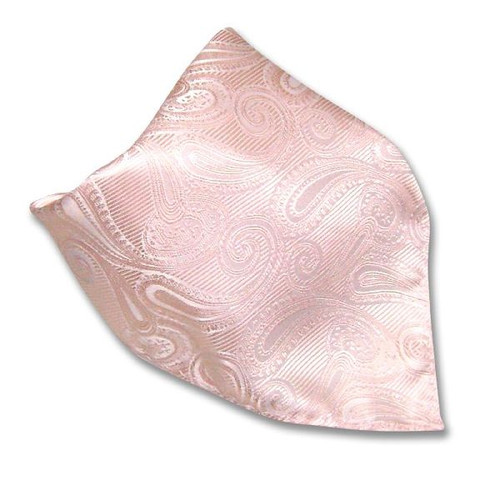 Peach Paisley Design Handkerchief Pocket Square Hanky
