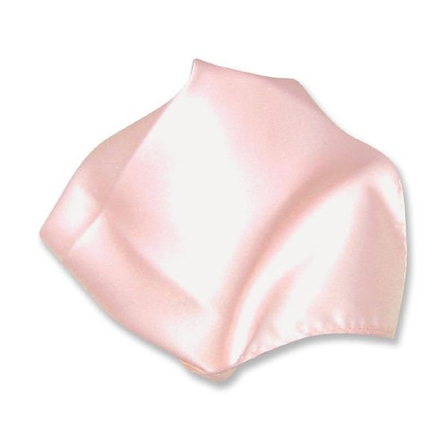 Pink Solid Color Hankerchief Pocket Square Hanky