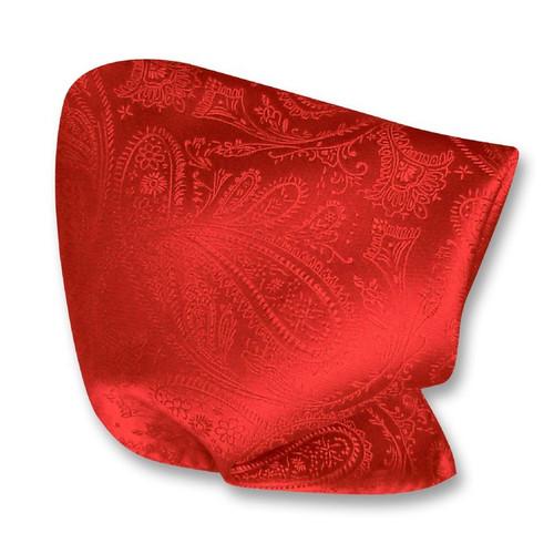 Red Paisley Design Handkerchief Pocket Square Hanky