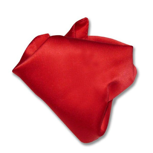 Red Solid Color Hankerchief Pocket Square Hanky