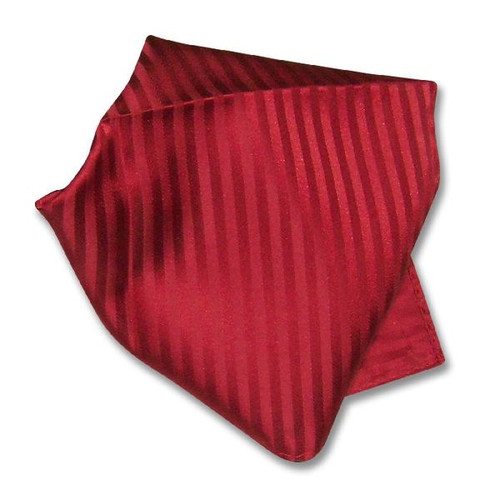 Red Striped Pattern Hankerchief Pocket Square Hanky